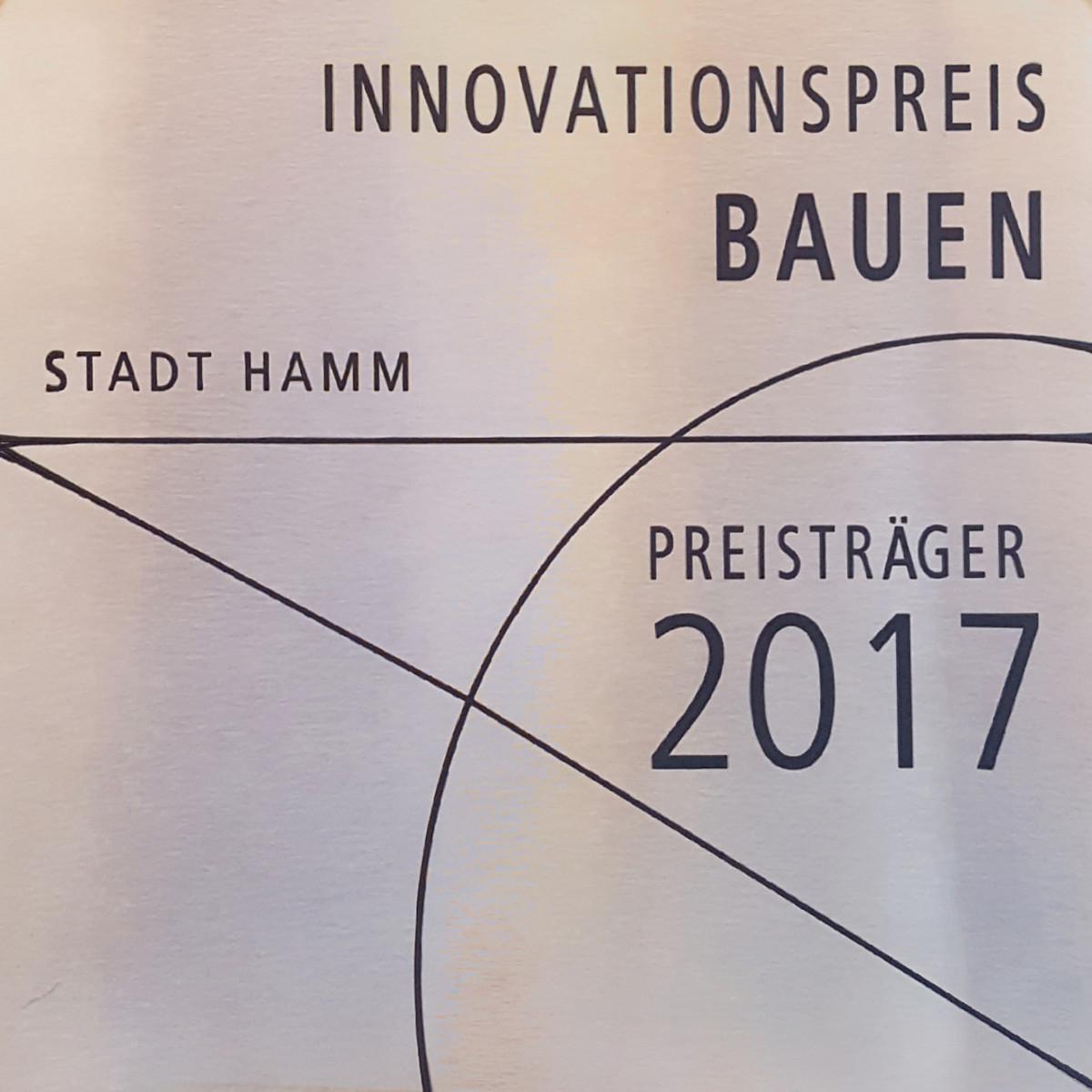 Innovationspreis Bauen 2017 Hamm, Plakette