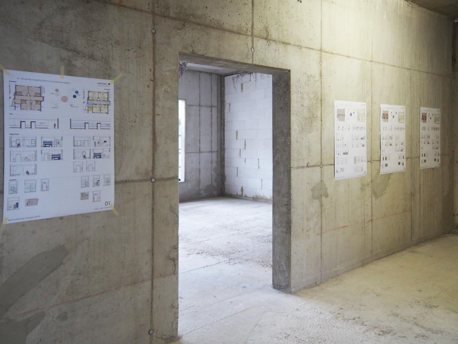 Planzeichnungen vermitteln die Atmosphäre des Gebäudes