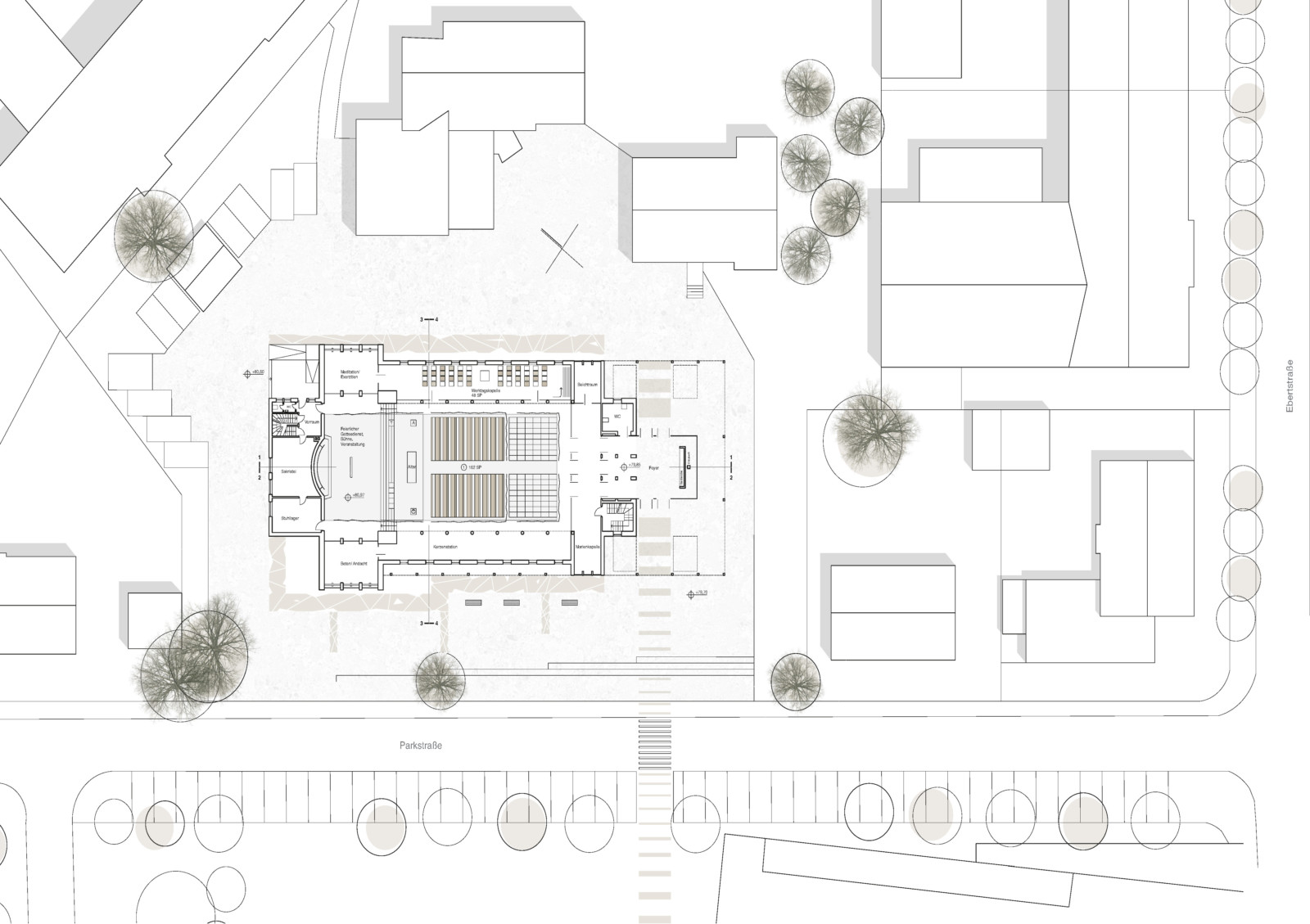 St. Elisabeth Kirche Bergkamen - Lageplan