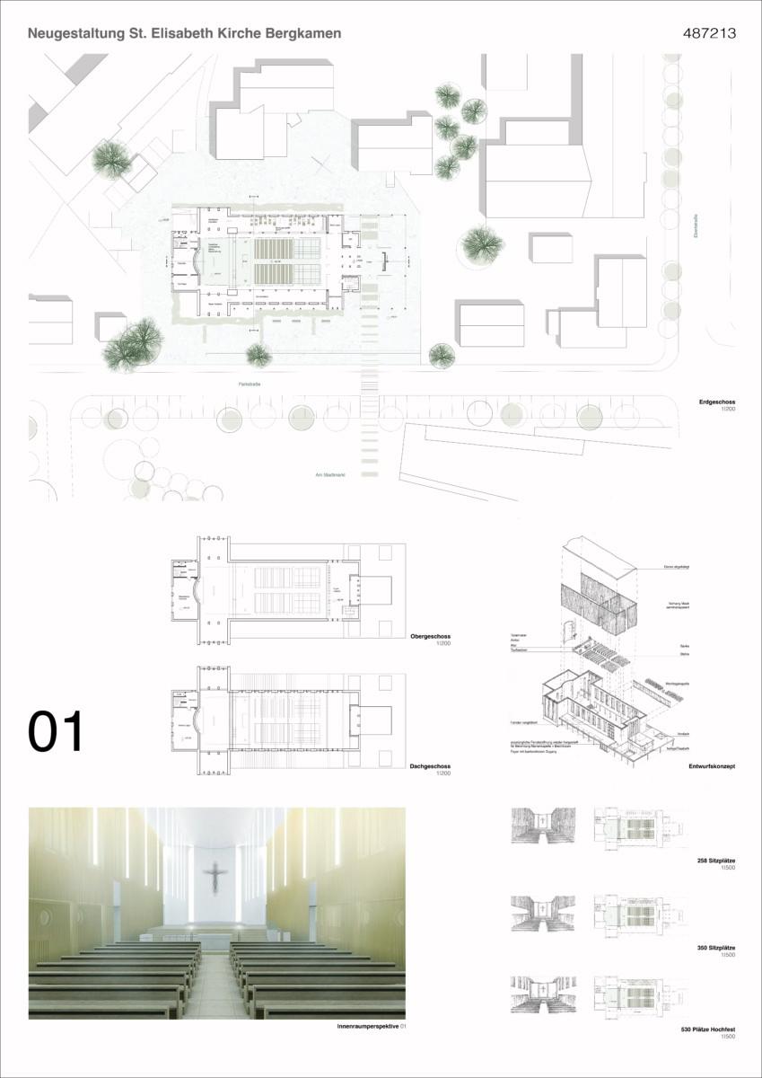 St. Elisabeth Kirche Bergkamen - Präsentationsplan 1