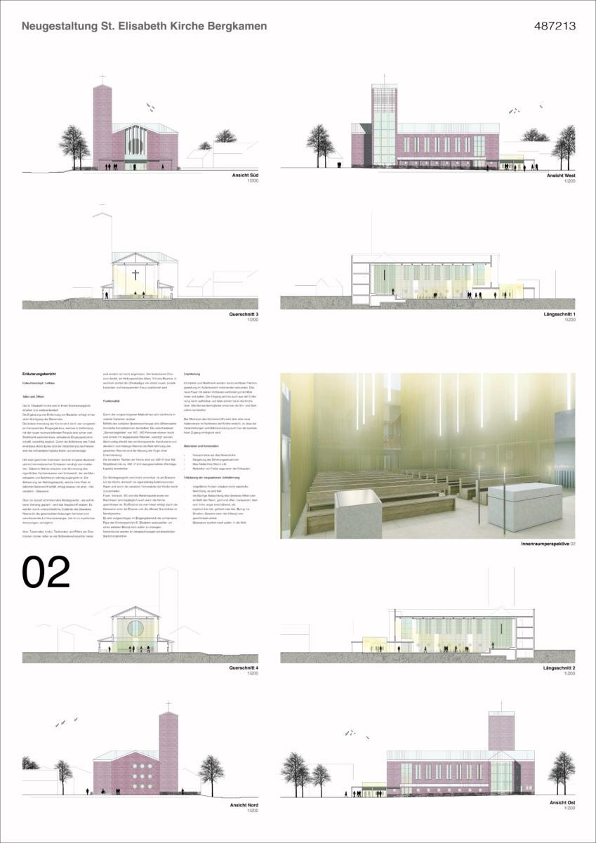 St. Elisabeth Kirche Bergkamen - Präsentationsplan 2