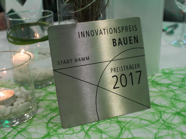 Innovationspreis Bauen 2017 Hamm, Plakette - St. Marien-Hospital Hamm