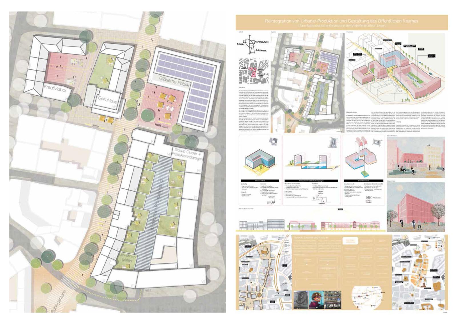 """BDA Förderpreis für Studierende, """"Reintegration von Urbaner Produktion und Gestaltung des Öffentlichen Raumes"""", Arbeit von Preisträgerin Laura Jackowski"""