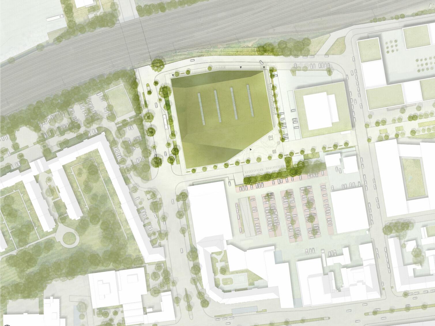 Wettbewerb Sporthalle Dortmund: Lageplan